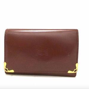 Must de Cartier Bordeaux Leather 6 Ring Key Case